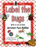Label the Parts of the Bug Worksheet Pack BUNDLE