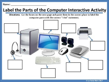 Label the Parts of the Computer Interactive Activity