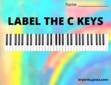 Label the Piano Keys (Full Color - 17 pages)