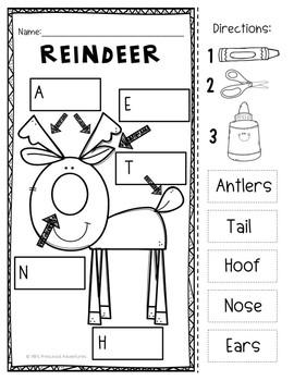 Label the Picture - Santa & Friends