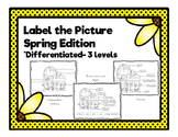 Label the Picture Spring Edition (Differentiated)