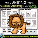 Label the Pictures Worksheets | Animals