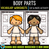 Label the Pictures Worksheets | Body Parts | Cut and Paste Printables