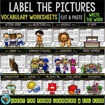 Label the Pictures Worksheets