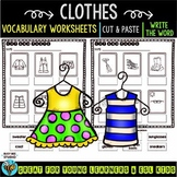 Label the Pictures Worksheets | Clothes