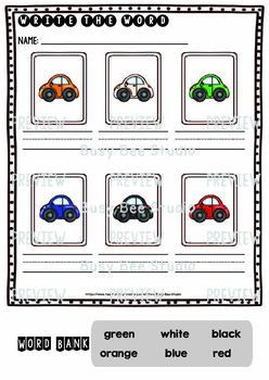 Label the Pictures Worksheets | Colors