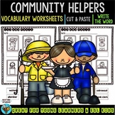 Label the Pictures Worksheets | Community Helpers