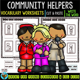 Label the Pictures Worksheets | Community Helpers (set 2)