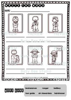 Label the Pictures Worksheets   Community Helpers (set 2)