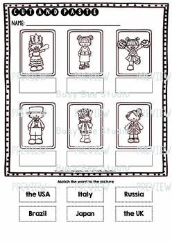 Label the Pictures Worksheets   Countries