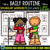 Label the Pictures Worksheets | Daily Routine
