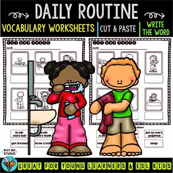 Label the Pictures Worksheets   Daily Routine