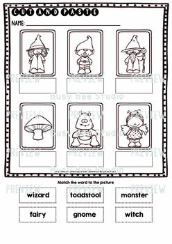 Label the Pictures Worksheets | Fairy Tale Words
