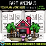 Label the Pictures Worksheets | Farm Animals