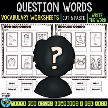 Label the Pictures Worksheets | Question Words