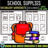 Label the Pictures Worksheets | School Supplies
