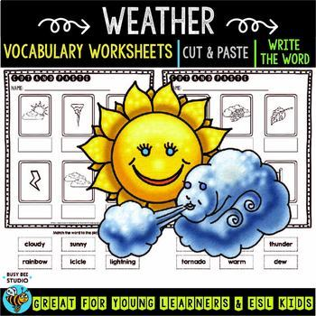 Label the Pictures Worksheets | Weather Words