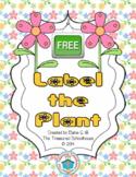 Label the Plant Cut & Paste Worksheet {FREEbie}
