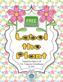 Label the Plant Cut & Paste Worksheet {FREEbie}