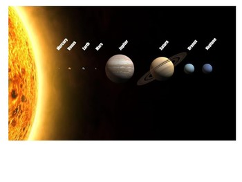 Label the Solar System Activity