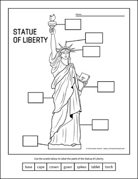 of worksheets statue liberty
