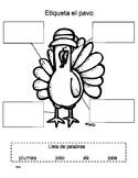 Label the Turkey/ Etiqueta el pavo