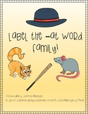 Label the -at word family