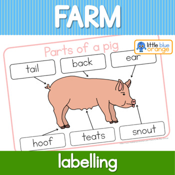 Label the farm animal/ parts of a farm animal worksheet