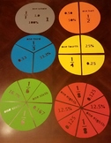 Labeled Fraction Manipulatives for Classroom Instruction (Silhouette Cameo)