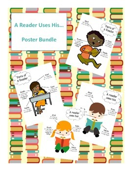 Labeled Parts of a Good Reader Poster Bundle