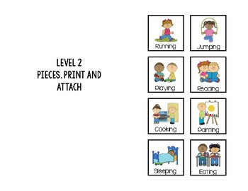 Labeling Action Verbs Adapted Book
