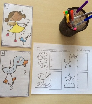 Labeling Through The Seasons: Writing Center Activities