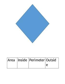 Labeling Area and Perimeter