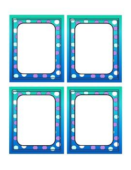 Labeling Cards!  Freebie!!