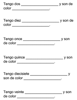 Labeling Classroom Objects/Supplies: Spanish