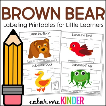 Brown Bear and Friends Labeling Printables