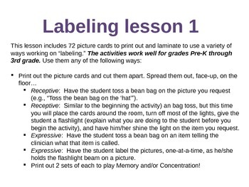 Labeling Lesson 1