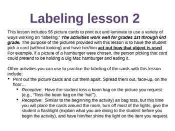 Labeling Lesson 2