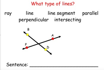 Types of Lines and Labeling Lines Smartboard