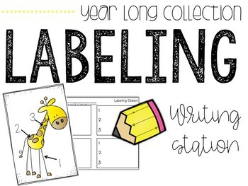 Labeling MEGA Station Year-Long Collection (Writing Beginning Sounds & Words)
