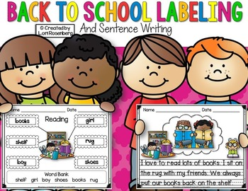 Labeling Packet...Back to School Edition