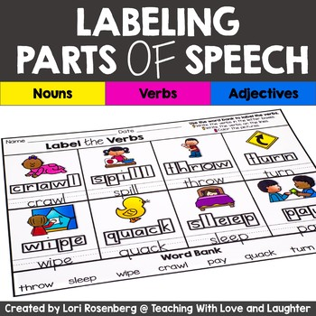 Labeling Parts of Speech (Nouns, Verbs, Adjectives)