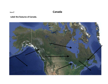 Labeling Physical Features of Canada