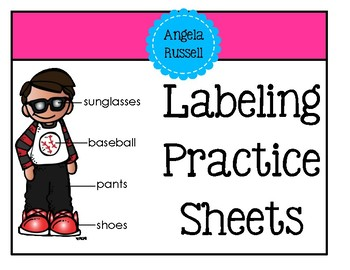 Labeling Practice Sheets - Children Theme