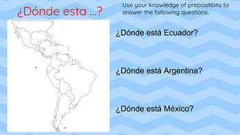 Labeling Spanish Speaking Countries / Google Classroom