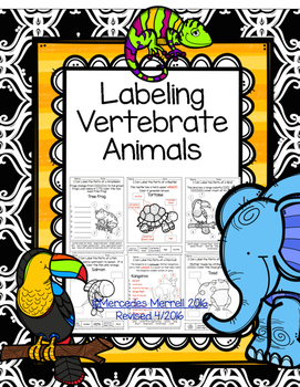 Labeling Vertebrate Animals Cut and Paste and Write Ins