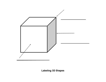 Labeling Vertex, Edge, and Face on 3D Figure Diagram
