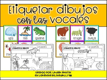 Labeling Vowels Pack in Spanish