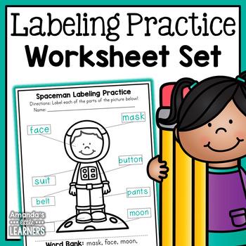 Labeling Worksheets - No Prep