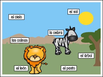 Labeling Writing Pack in Spanish